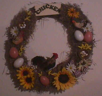 Country Chicken Wreath